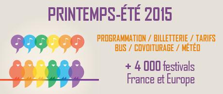 Festivals Printemps Ete 2015
