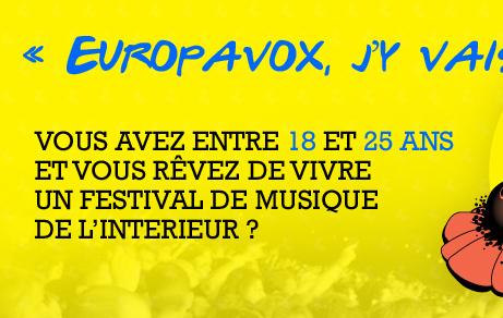Vous avez entre 18 et 25 ans et vous revez de vivre un festival de musique de l'intérieur ?